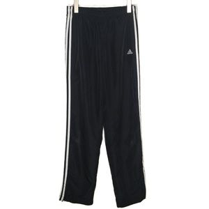 Adidas Black 3 Stripe Track Pants Small